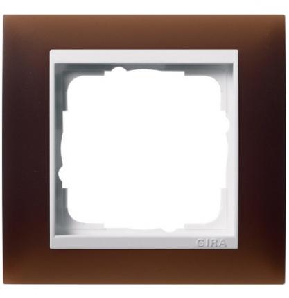 Матовая темно-коричневая