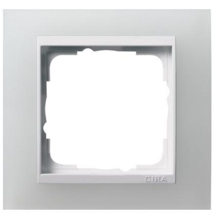 Прозрачная белая матовая