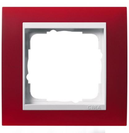 Прозрачная красная матовая