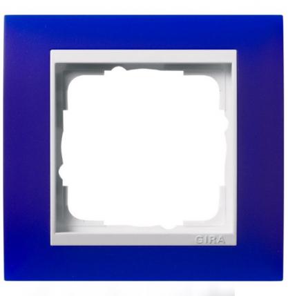 Прозрачная синяя матовая