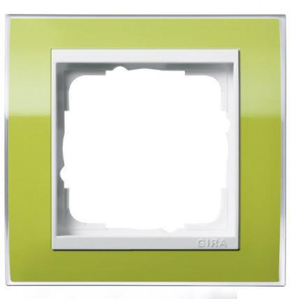 Зелёная глянцевая